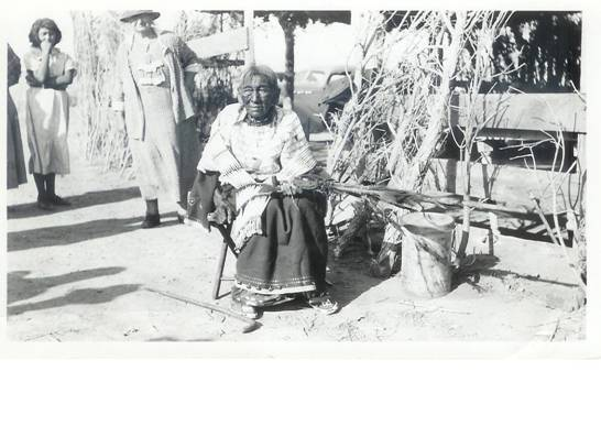 Martha Bad Warrior, the third & last bloodline Caretaker of the Pte Hincala Cannunpa Kin, Aug 1936 at Green Grass, South Dakota with the Seven Council Fires Council Cannunpa Tetuwan Government (Pipe) on her lap...not a cane or the Calf Pipe!