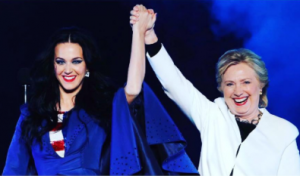 Hillary with Katy Perry